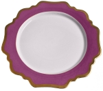 Anna\'s Palette Purple Orchid Dinner Plate