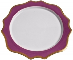 Anna\'s Palette Purple Orchid Charger