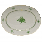 Chinese Bouquet Green 15\ Oval Platter