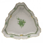 Chinese Bouquet Green Triangle Dish