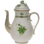 Chinese Bouquet Green 60 Ounce Coffee Pot