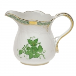 Chinese Bouquet Green 6 Ounce Creamer