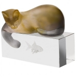 Amber Cat Sculpture