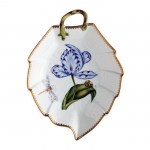 Old Master Tulips Blue and Purple Tulip Leaf Dish
