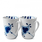 Blue Fluted Mega Set of 2 Mugs