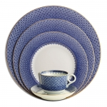 Blue Lace Five Piece Place Setting