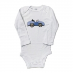 Boy in Blue Car Onesie, illustrated by: Ellen Skidmore
