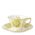 Derby Panel Green Tea Cup Saucer