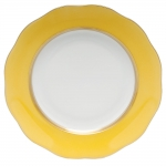 Silk Ribbon Lemon Dessert Plate