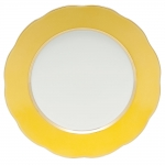 Silk Ribbon Lemon Service Plate