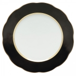 Silk Ribbon Black Dessert Plate
