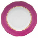 Silk Ribbon Raspberry Dessert Plate