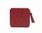 Caroline Red Zip Travel Case