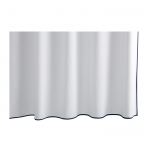 Chiaro White Shower Curtain With Navy Trim
