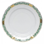 Chinese Bouquet Garland Green Bread and Butter Plate
