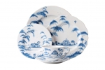Country Estate Delft Blue 5 Piece Place Setting