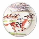 Cavaliers Race Set of Four Dessert Plates