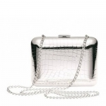 Croco D\'Argent Evening Bag