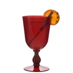 Arabella Ruby  Footed Goblet