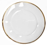 Simply Elegant Gold Dinner Plate