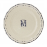 Filet Bleu Monogram Dessert Plate