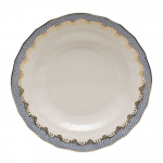 Fishscale Light Blue Dessert Plate
