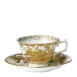 Gold Aves Tea Cup Saucer