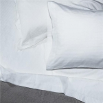 Bordeaux White Stripe King Pillowcases, Set of 2