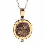 Athena and Pegasus Replica Coin Pendant Necklace