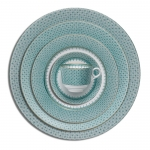 Green Lace Five Piece Place Setting
