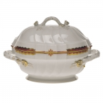 Princess Victoria Pink Tureen with Branch Handles