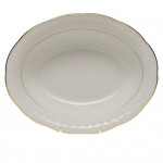 Golden Edge Oval Vegetable Dish
