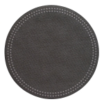 Pearls Charcoal Round Placemats, Set of Four