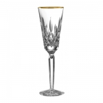 Lismore Tall Gold Champagne Flute
