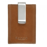 Brown Money Clip Card Case