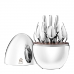 Mood 24-Piece Silver Plated Flatware Set with Storage Capsule - For Six People
