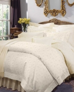 Giza 45 Jacquard Ivory Queen Fitted Sheet