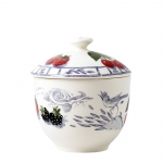 Oiseau Blue Fruits Sugar Bowl