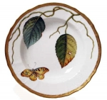 Antique Forest Leaves Rim Soup