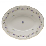 Blue Garland Oval Vegetable Dish