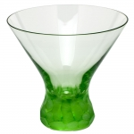 Pebbles Ocean Green Stemless Martini Glass