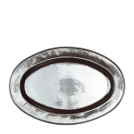 Pewter Stoneware Large Oval Platter