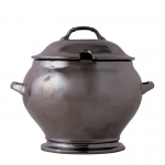 Pewter Stoneware Soup Tureen