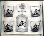 Seabiscuit Decanter Set with Four Double Old Fashioned Glasses