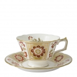 Derby Panel Red Tea Cup Saucer