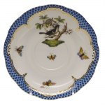 Rothschild Bird Blue Border Tea Cup Saucer - Motif #1