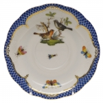 Rothschild Bird Blue Border Tea Cup Saucer - Motif #5