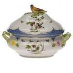 Rothschild Bird Blue Border Tureen with Bird