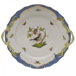 Rothschild Bird Blue Border Chop Plate with Handles