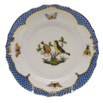 Rothschild Bird Blue Border Bread and Butter Plate, Motif #7